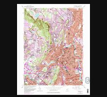 USGS TOPO Map New Jersey NJ Paterson 254694 1955 24000 Unisex T-Shirt
