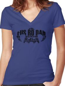FUS RO DAH Women's Fitted V-Neck T-Shirt