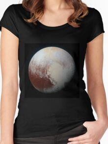 Pluto (Highest Resolution) Women's Fitted Scoop T-Shirt
