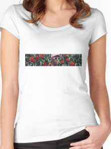 Lil Yachty Flowers Women's Fitted Scoop T-Shirt