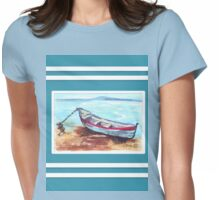 Beach house style 4 Womens Fitted T-Shirt