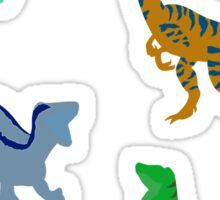 Blue the Raptor Silhouette Sticker