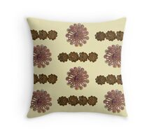 Pink and Gold Bead and Sequin Flowers (II) - Vintage Bling Throw Pillow