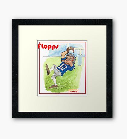 Tom Brady Trading Card Framed Print