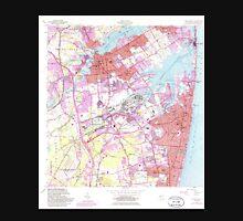 USGS TOPO Map New Jersey NJ Long Branch 254540 1954 24000 Unisex T-Shirt