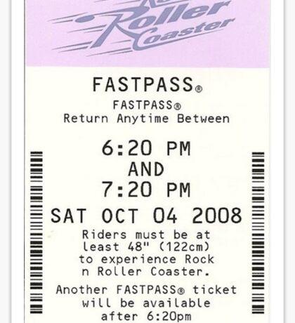 Rock 'n Roller Coaster Fastpass Sticker