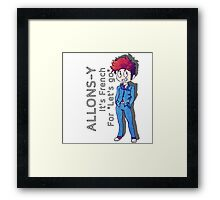 "Tenth Doctor - ""Allons-y!"" Framed Print"