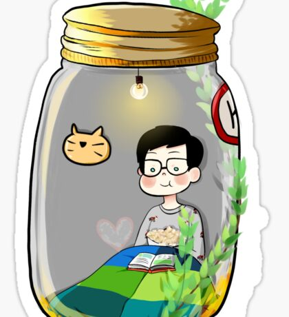 Mini Philip in the jar Sticker