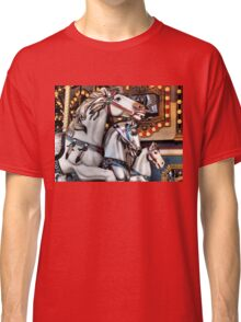 Vintage Horse Carousel Merry-Go-Round Ride  Classic T-Shirt