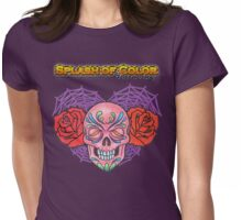 Splash of Color - Sugar Skull Womens Fitted T-Shirt