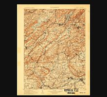 USGS TOPO Map New Jersey NJ Raritan 255449 1905 125000 Unisex T-Shirt