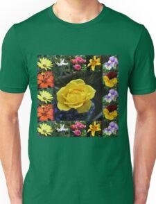 Vibrant Summer Flowers Collage Unisex T-Shirt