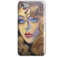 Lady with golden hair iPhone Case/Skin