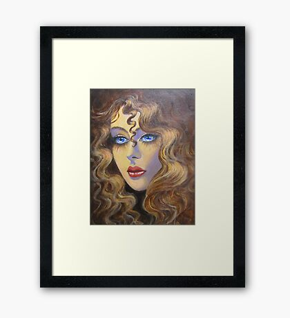 Lady with golden hair Framed Print