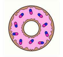Donut and Pill Sprinkles Art Print