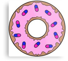 Donut and Pill Sprinkles Metal Print
