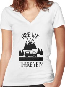 Roadtrip Apparel - Are we There Yet? Women's Fitted V-Neck T-Shirt