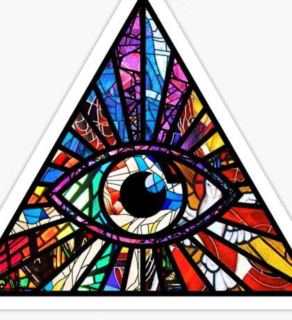 Stained Glass Illuminati Eye Sticker