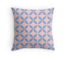 Abstract Frangipani Flower Pattern | Rose Quartz & Serenity | Pantone Colors of the Year 2016 Throw Pillow
