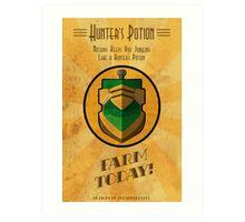 Hunter's Potion Art Deco poster Art Print