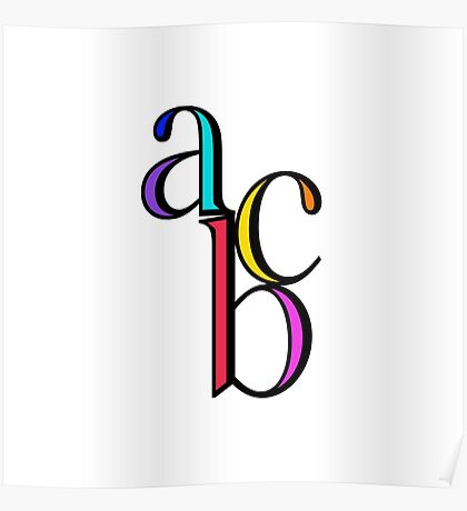 """abc"" typography Poster"