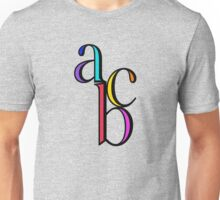 """abc"" typography Unisex T-Shirt"