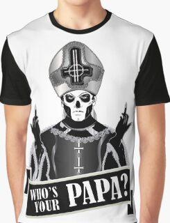 WHO'S YOUR PAPA? - papa 3 flippin' the bird-monochrome Graphic T-Shirt