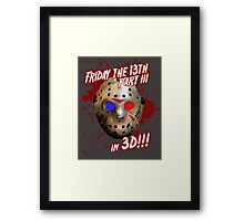 FRIDAY THE 13TH - in 3D!!! Framed Print