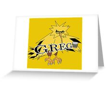 GREG the Zapdos Greeting Card