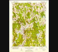 USGS TOPO Map Connecticut CT Woodbury 461085 1955 31680 Unisex T-Shirt
