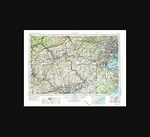 USGS TOPO Map New Jersey NJ Newark 255462 1944 250000 Unisex T-Shirt