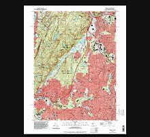 USGS TOPO Map New Jersey NJ Ramsey 254810 1995 24000 Unisex T-Shirt