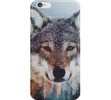 wolf double exposure iPhone Case/Skin