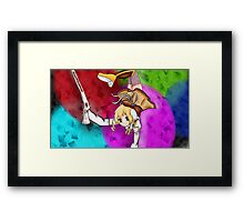 Witchs Fight Framed Print