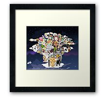 Anime Characters Collaboration Framed Print