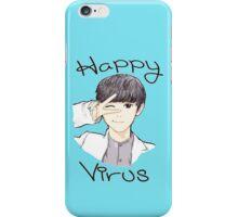 Happy Virus Chanyeol - Blue Background iPhone Case/Skin