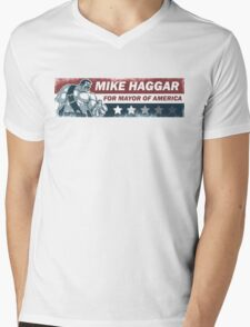 Mike Haggar Mayor of America Mens V-Neck T-Shirt