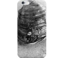 Clam Up - Black and White iPhone Case/Skin