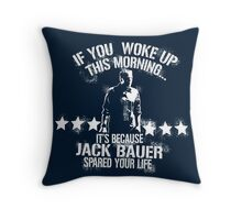 Jack Bauer  Throw Pillow