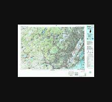 USGS TOPO Map New Jersey NJ Newark 255430 1986 100000 Unisex T-Shirt