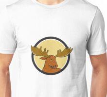 Moose Head Circle Cartoon Unisex T-Shirt