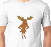 Moose Standing Hands Akimbo Cartoon Unisex T-Shirt