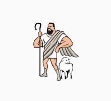 Superhero Shepherd Sheep Standing Cartoon Unisex T-Shirt