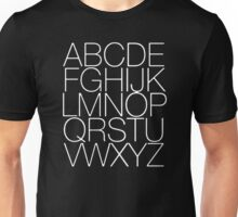 A to Z alphabet style hipster tee tumblr Unisex T-Shirt