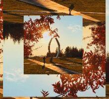 Spiral Landscape Sticker