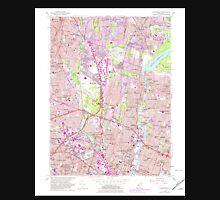USGS TOPO Map New Jersey NJ Hackensack 254435 1955 24000 Unisex T-Shirt