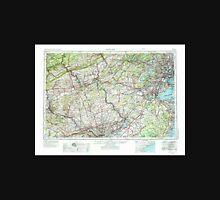 USGS TOPO Map New Jersey NJ Newark 255460 1944 250000 Unisex T-Shirt