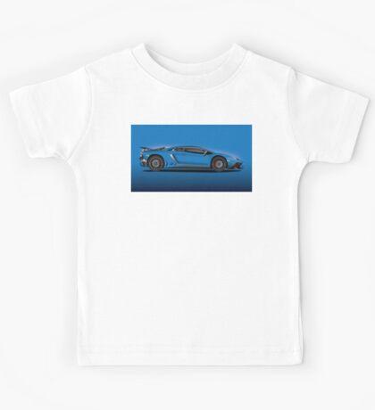 Blue Aventador LP 750-4 Superveloce Kids Tee