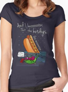 The hotdogs, Go onnnn Women's Fitted Scoop T-Shirt