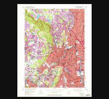 USGS TOPO Map New Jersey NJ Paterson 254693 1955 24000 Unisex T-Shirt